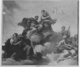 Allegorie auf die Wiedererlangung der pfälzischen Kurwürde durch Johann Wilhelm von der Pfalz
