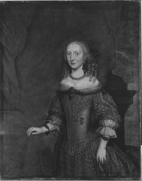 Bildnis der Landgräfin Elisabeth Amalie von Hessen, Gemahlin des Kurfürsten Philipp Wilhelm von Pfalz-Neuburg (1635-1709)