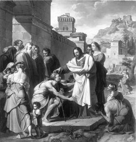 Christus heilt den Blinden