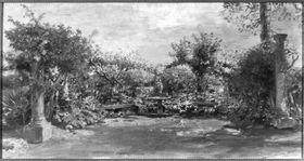 Gartenbank aus der Villa Wolkonsky in Rom