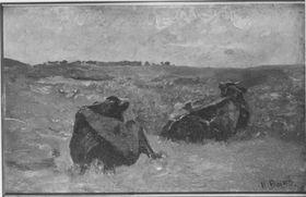 Liegende Rinder