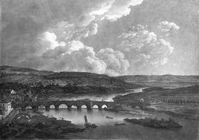 Die Mainbrücke bei Aschaffenburg (Aschaffenburger Zyklus)