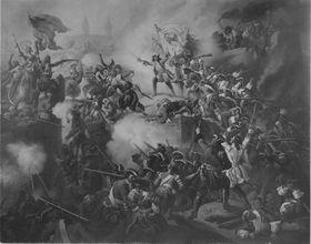 Max Emanuel erstürmt die Vorwerke von Belgrad am 6. September 1688