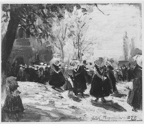 Kirchgang im Spreewald