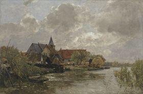 Dorf in Holland (Nieuwekerk)
