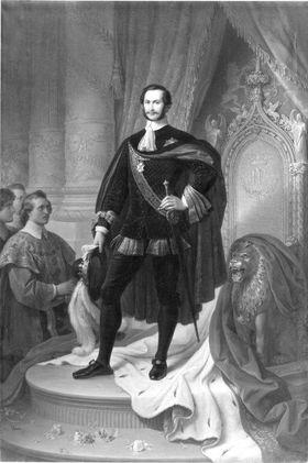 König Maximilian II. von Bayern als Hubertusritter