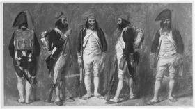 Soldat der Ersten Republik, fünf Studien