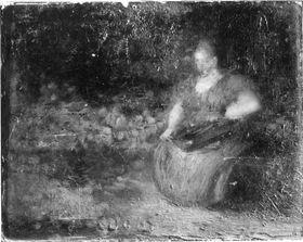 Eine Obstverkäuferin