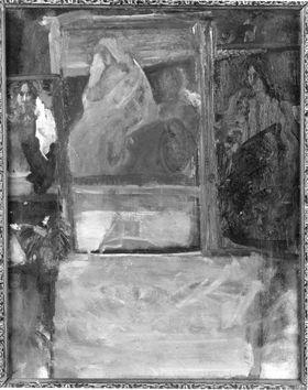 Atelierwand Rückseite: Hl. Franziskus