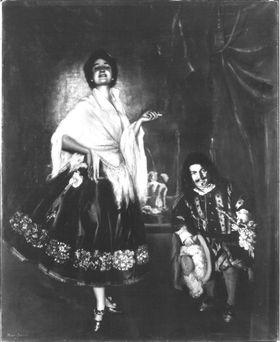 Tänzerin mit Zwerg (Auf dem Theater)