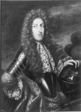 Ludwig Anton in goldverzierter Rüstung