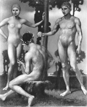 Drei nackte Figuren