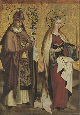 Altarflügel: Die hll. Eligius und Genovefa