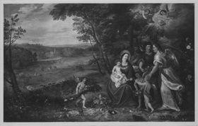 Die Heilige Familie in einer Landschaft