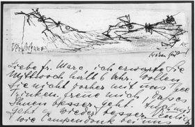 Verfolgung (Postkarte an Maria Marc, 20.4.1913)
