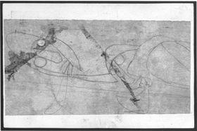 Zwei Figuren (Postkarte an Maria Marc, 22.6.1913)