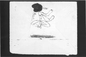 Kleine Figur (auf der Rückseite eines Briefumschlages)