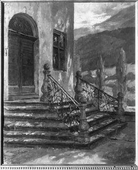 Treppenaufgang in einem Haus in Hall
