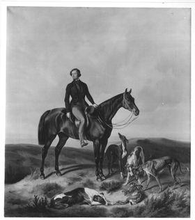 Hugo Philipp Graf Waldbott von Bassenheim zu Pferd
