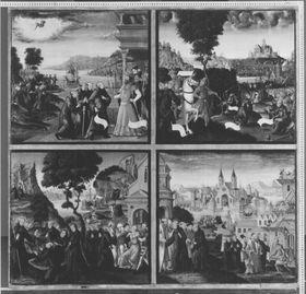 Magnuslegende: Vier Darstellungen aus der Legende des hl. Magnus (Tafel 2)