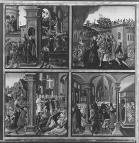 Magnuslegende: Vier Darstellungen aus der Legende des hl. Magnus (Tafel 4)