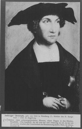 Bildnis eines schwarz gekleideten jungen Mannes