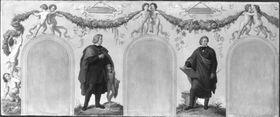Bildnisse der Künstler Bertel Thorvaldsen und Leo von Klenze