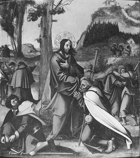 Aussendung der Apostel (Anmontierte Rückseite: Taufe des Kämmerers durch Philippus)