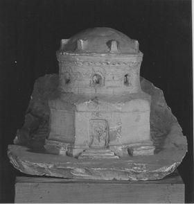 Entwurf für ein Mausoleum der Familie des Kaufmanns Arthur von Schnitzler auf Gut Klink bei Waren in Mecklenburg
