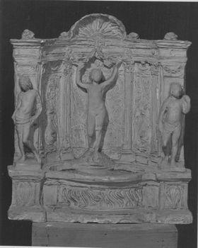Entwurf für einen Wandbrunnen