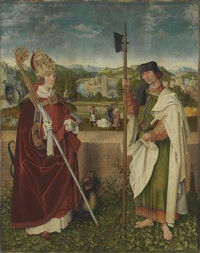 Universitätsaltar: Hll. Narzissus und Mathäus