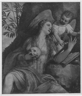 Hl. Magdalena mit einem Engel
