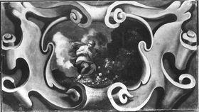 Ornament mit weiblicher Allegorie