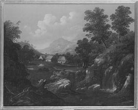 Landschaft mit Bauernhäusern