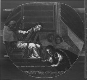 Kurfürst Maximilian I. vor Papst Clemens VIII. in Rom