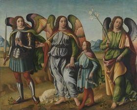 Die drei Erzengel mit dem kleinen Tobias