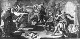 Der hl. Eustachius verweigert den Götzendienst