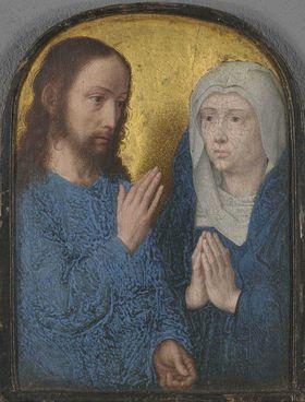 Teil eines Diptychons: Abschied Christi von Maria