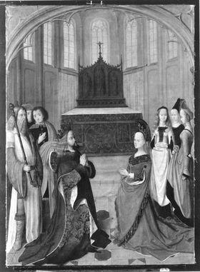 Bilderfolge der Ursulalegende: Gebet der Eltern der hl. Ursula