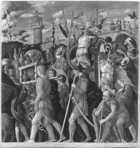 Cäsars Triumphzug III  (Kopie nach Mantegna)