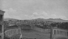 Blick von St. Peter auf Rom