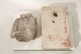 Künstlerbalustrade der Alten Pinakothek: Plinthe