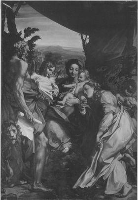 Die Madonna des hl. Hieronymus (nach Correggio)