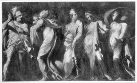 Gefangene Frauen und Wächter