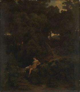 Nymphe an der Quelle