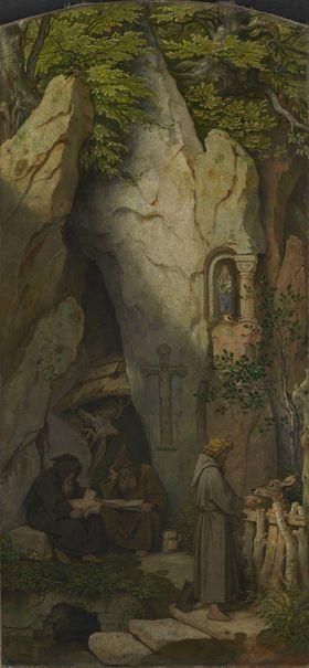 Einsiedler in einer Felsengrotte