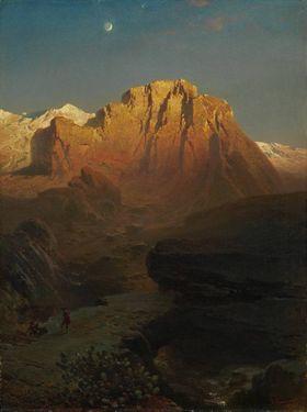 Abendglühen in der Sierra Nevada