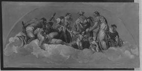 Mythologisch-allegorische Darstellung in der Villa Barbaro (nach Veronese)