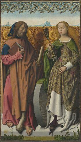 Bartholomäusaltar: Die hll. Jakobus d. J. und Christina