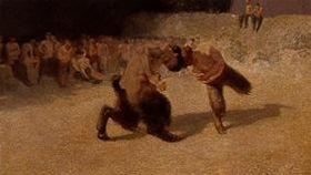 Kämpfende Faune